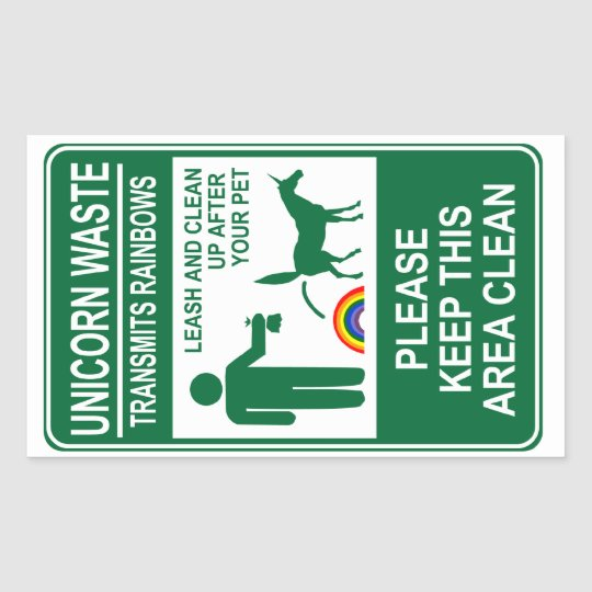 Unicorn Waste Sign