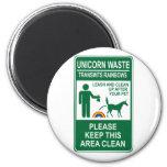 Unicorn Waste Sign Refrigerator Magnet