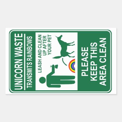 Unicorn Waste Sign Stickers