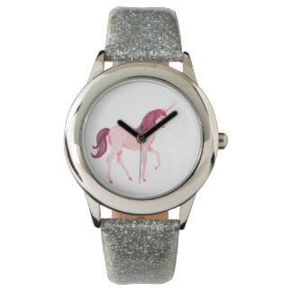 Unicorn Watch- Silver Glitter Band Watches