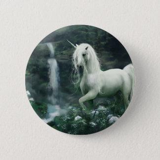 Unicorn Waterfall 2 Inch Round Button