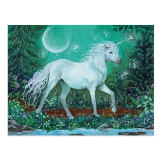 Unicorn Whispering Pines Postcard