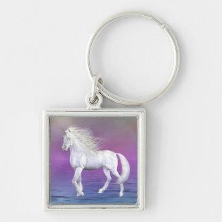 Unicorn White Beauty Keychain