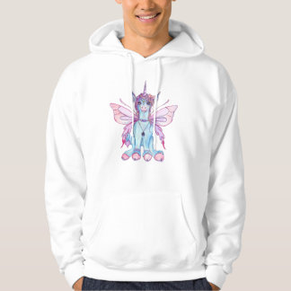 Unicorn Winged Fairy Faery  Pegasus Horse Pony Red Hoodie