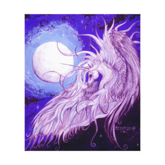 Unicorn with Moon Canvas Print