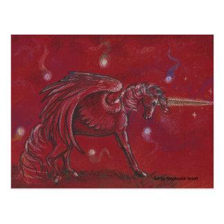 Unicorn with Orbs Postcard