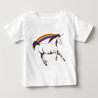 Unicorn with rainbow baby T-Shirt