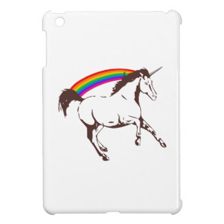 Unicorn with rainbow iPad mini cases