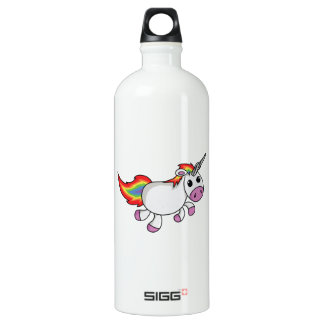 Unicorn with Rainbow Mane and Tail Water Bottle
