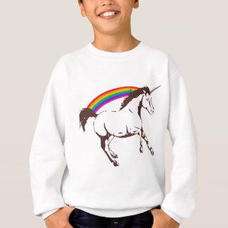 Unicorn with rainbow sweatshirt