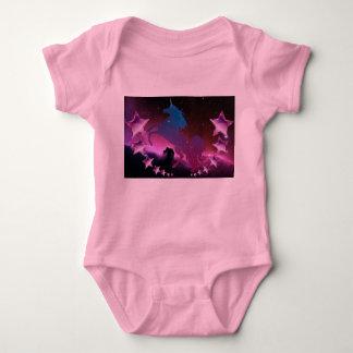 Unicorn with stars baby bodysuit