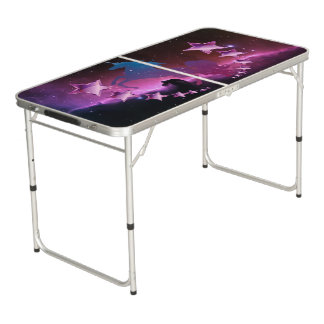 Unicorn with stars beer pong table