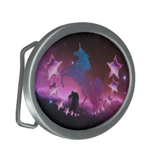 Unicorn with stars belt buckle
