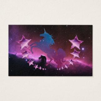 Unicorn with stars business card