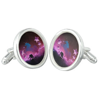 Unicorn with stars cufflinks