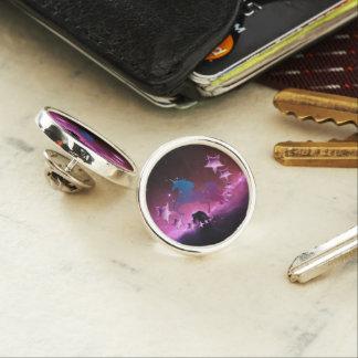Unicorn with stars lapel pin