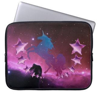 Unicorn with stars laptop sleeve