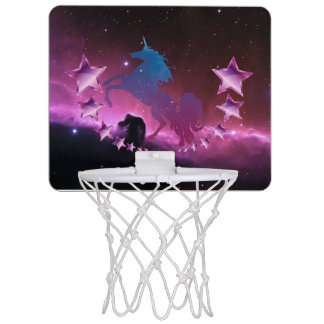 Unicorn with stars mini basketball hoop