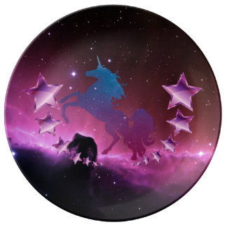 Unicorn with stars plate