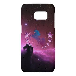 Unicorn with stars samsung galaxy s7 case