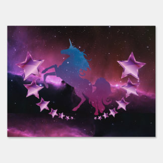 Unicorn with stars sign