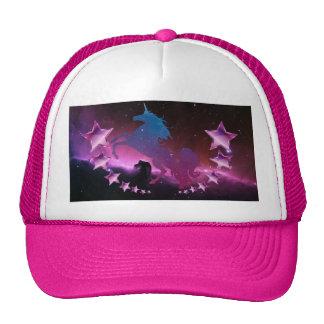 Unicorn with stars trucker hat