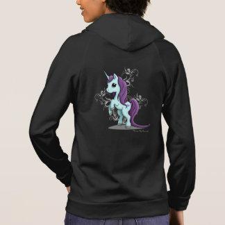 Unicorn Women's Zip Up Hoodie Sweatshirt
