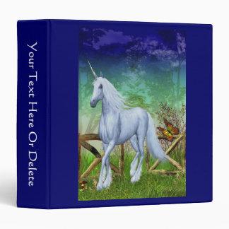 Unicorn Woodland Gate Fantasy Horse Binder