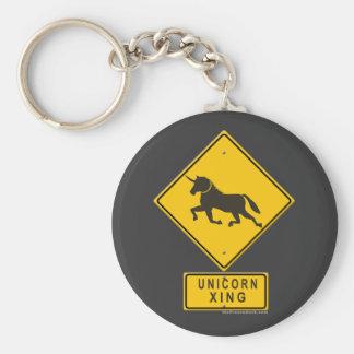 Unicorn XING Basic Round Button Keychain