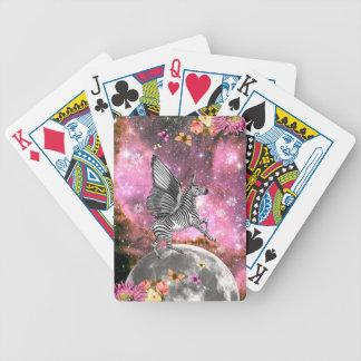 Unicorn Zebra Pegasus Bicycle Playing Cards