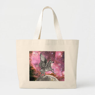 Unicorn Zebra Pegasus Large Tote Bag