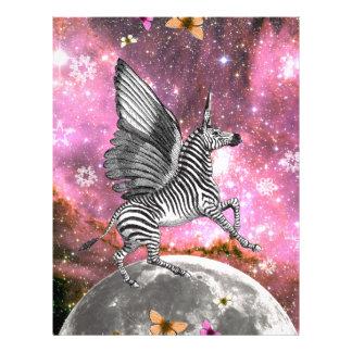 Unicorn Zebra Pegasus Letterhead