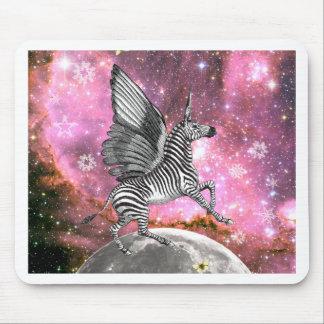 Unicorn Zebra Pegasus Mouse Pad