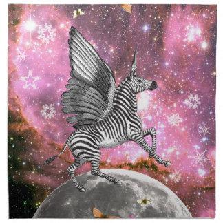 Unicorn Zebra Pegasus Napkin