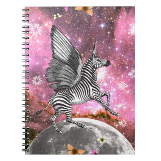 Unicorn Zebra Pegasus Notebook