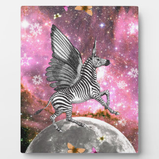 Unicorn Zebra Pegasus Plaque