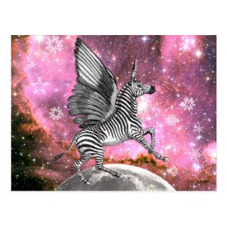 Unicorn Zebra Pegasus Postcard