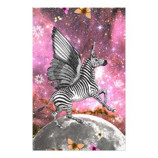 Unicorn Zebra Pegasus Stationery