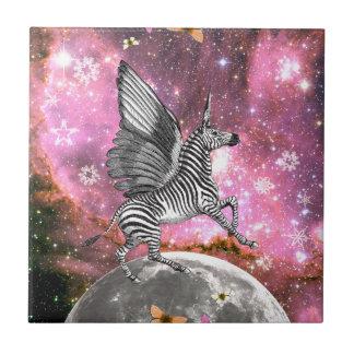 Unicorn Zebra Pegasus Tile