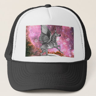 Unicorn Zebra Pegasus Trucker Hat