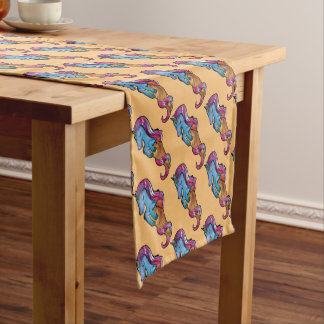 unicornio ice cream short table runner