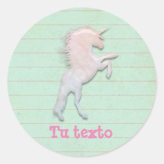 Unicornios obsession classic round sticker