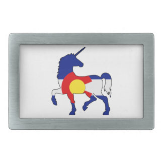 Unicorns and Colorado! Belt Buckle