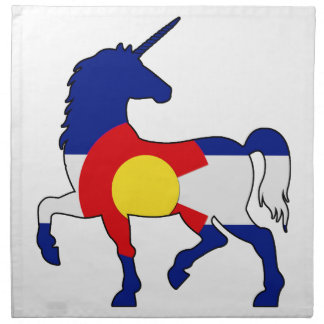 Unicorns and Colorado! Napkin