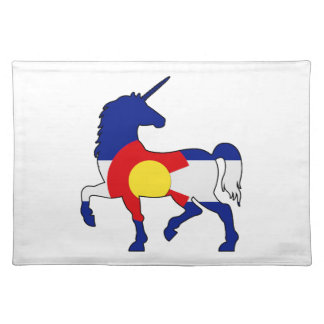 Unicorns and Colorado! Placemat