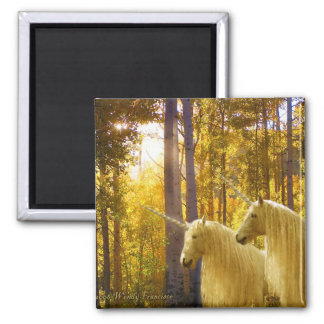 Unicorns and Fall Colors Magnet
