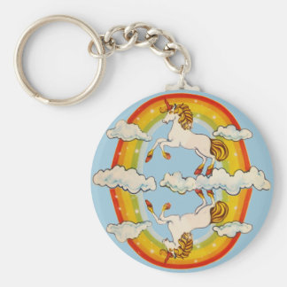 Unicorns and rainbows keychain