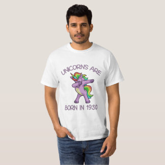 Unicorns are Born in 1930 Cute Dabbing Dance Pose T-Shirt
