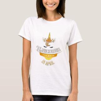 Unicorns Are Born In April, Birthday Unicorn T-Shirt