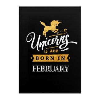 Unicorns are born in February - Calligraphy Art